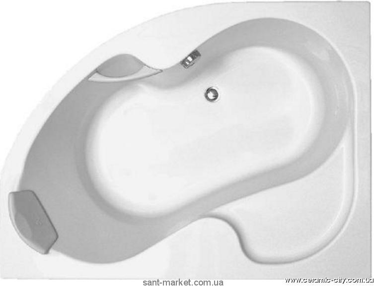 Ванна акриловая асимметричная угловая Ravak коллекция Rosa II 150х105х45 L CK21000000