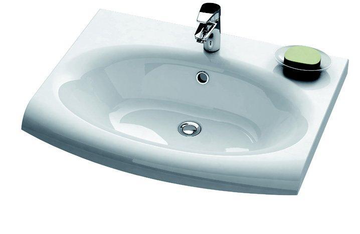 Раковина для ванной на тумбу Ravak коллекция Evolution белая XJE01100000
