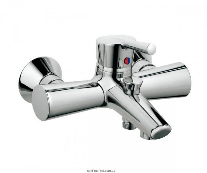 Смеситель однорычажный для ванны с коротким изливом Kludi коллекция Kido хром 394450575