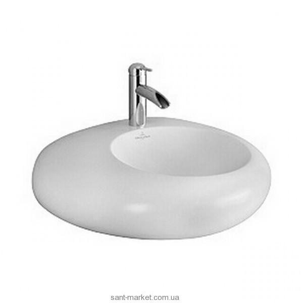 Раковина для ванной накладная Villeroy&Boch коллекция Pure Stone белая 517061R2