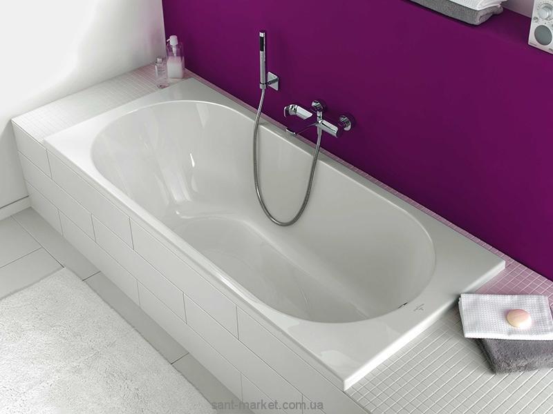 Ванна акриловая прямоугольная Villeroy&Boch коллекция O.Novo 180x80х50 UBA180CAS2V-01