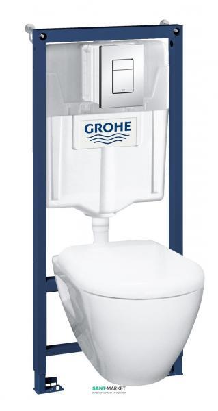 Система инсталляции Grohe Solido Perfect 4 в 1 с подвесным унитазом 39186000