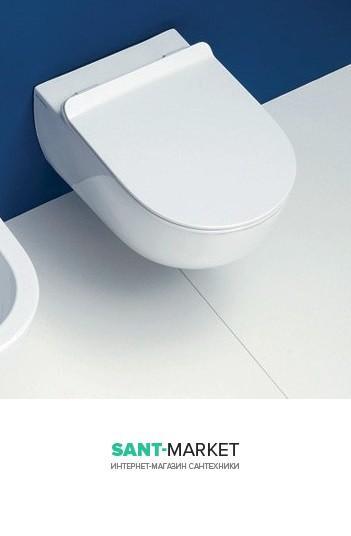 Унитаз подвесной безободковый Flaminia App укороченный с крышкой Soft-Close Slim AP119G