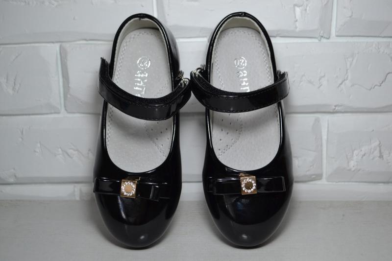 Туфли Ангел черные для девочки 26р-31р