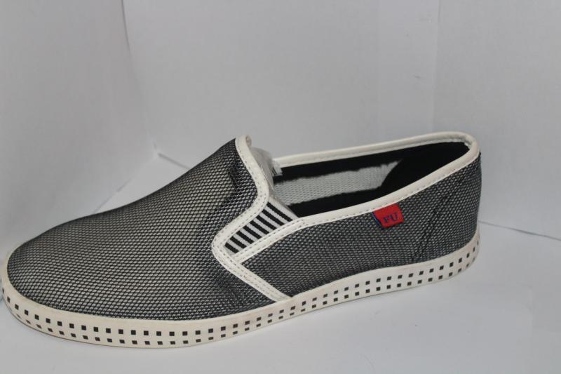 Мужские мокасины серого цвета на резинках сетка без застёжки для повседневной носки