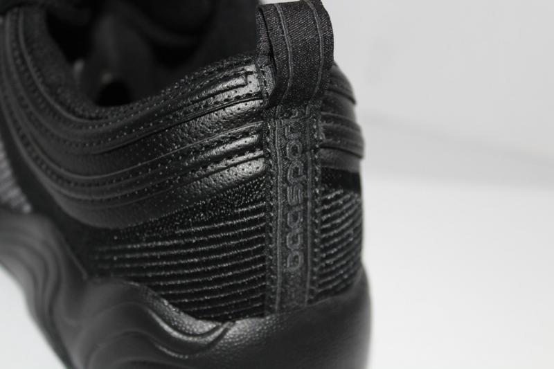 Фото Осень 2017 -Весна 2018 (мужские кроссовки на шнуровке) Мужские осенние кроссовки baas на шнуровке кожаные черные со вставками и рисунком на платформе на шнурке