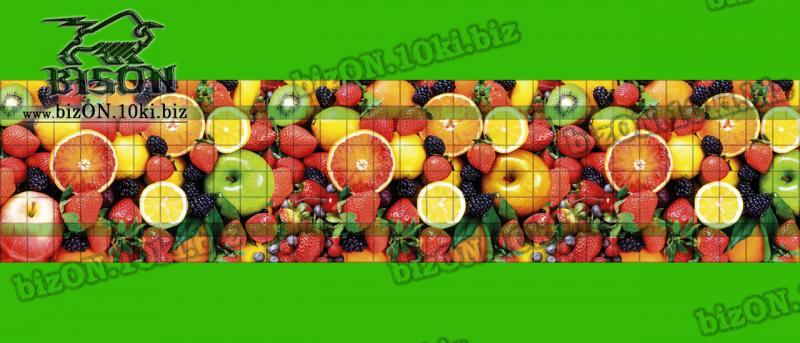 Фото Листовые панели ПВХ Панно «ФРУКТОВЫЙ ДЕСЕРТ» (3 листа в комплекте)   Листовые панели ПВХ