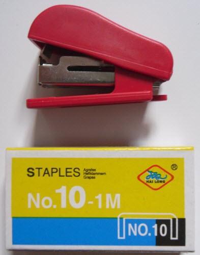 Степлерный набор (мини-степлер, скобы 2х33 шт. №10)