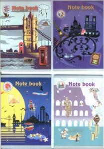 Фото Канцтовары, Блокноты, ежедневники Блокнот у вигляді зошита А6 (країни)