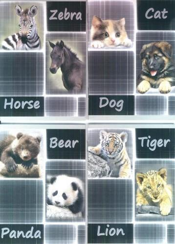 Блокнот у вигляді зошита А6 (тварини)