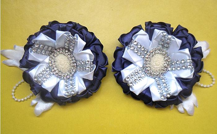Фото Готовые изделия хенд мейд, Резинки хенд мейд Резинки  школьные  бело-синие ,пара