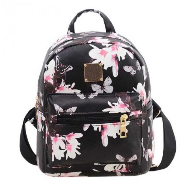 """Рюкзак черный """"С бабочками и сакурой"""""""