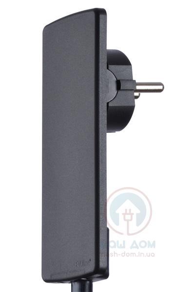 Плоский электрический штекер EVOline Plug. Цвет - чёрный