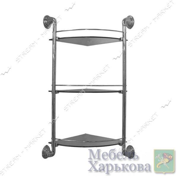 Полка тройная угловая (3103F) - Полки и этажерки для ванных комнат в Харькове
