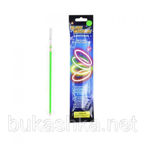 Светящийся неоновый браслет, 3 шт (зелёный)