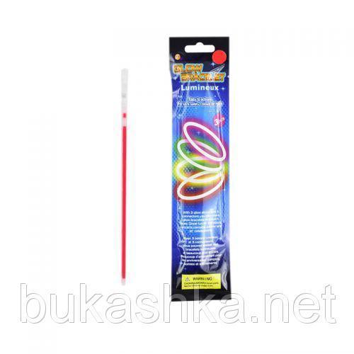 Светящийся неоновый браслет, 3 шт (красный)