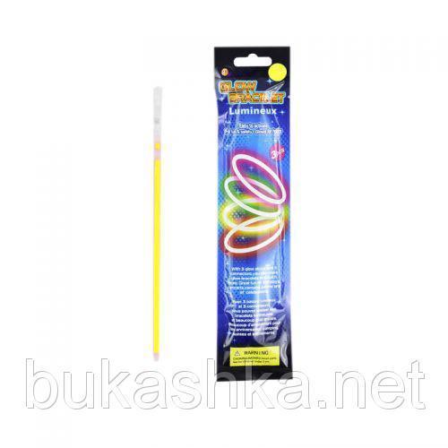 Светящийся неоновый браслет, 3 шт (жёлтый)