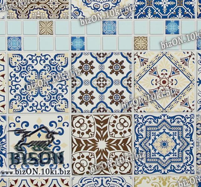 Фото Листовые панели ПВХ Панно «МАЙОЛИКА» (3 листа в комплекте)   Листовые панели ПВХ