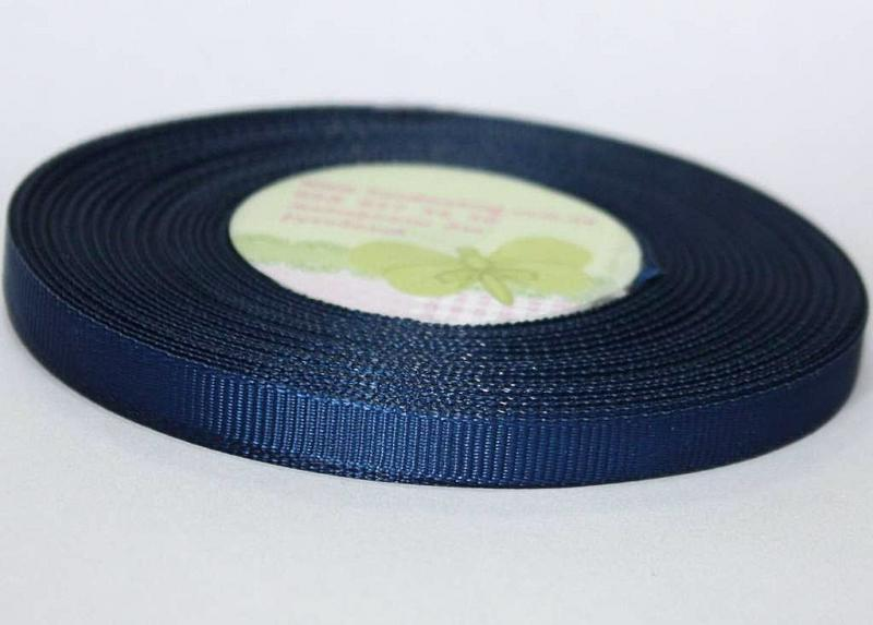 Лента  репсовая  ширина  1 см.  тёмно - Синего   цвета  в  бобине  23 метра.