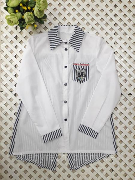 Блузка рубашка с красивой спинкой девочке 134-158 см 152