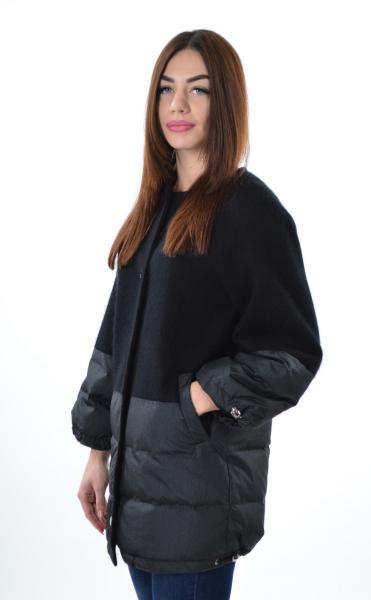 Элегантная куртка Max Mara 1782, кашемир черный, XL