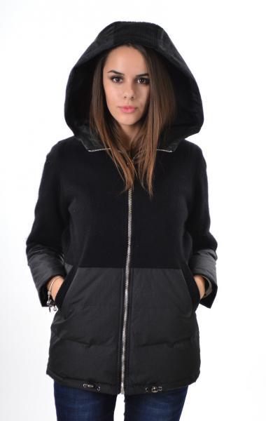 Элегантная куртка Max Mara 1781, кашемир,  черный, XL