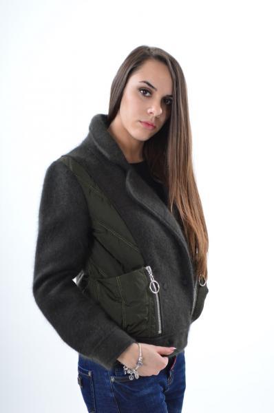 Стильная куртка Max Mara 6802 из кашемира хаки, XL