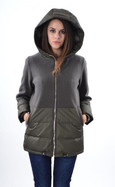 Элегантная куртка Max Mara 1781, кашемир,  оливка, L