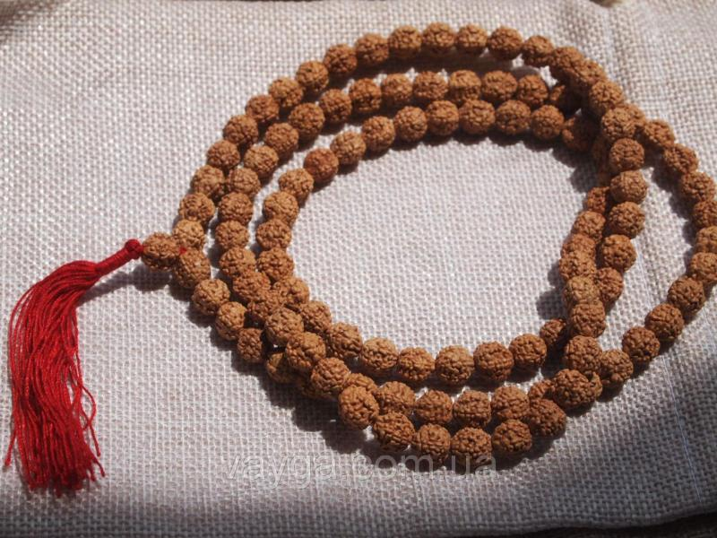 Чётки семена Рудракши (светлые) 108 бусин