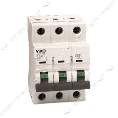 Автоматический выключатель трехполюсный Viko 3р 63А С 4, 5кА