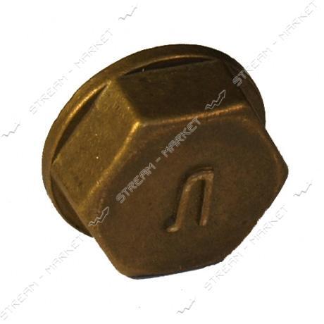 Заглушка латунная для газового балона 22х1, 5 В (левая резьба) N0763.01