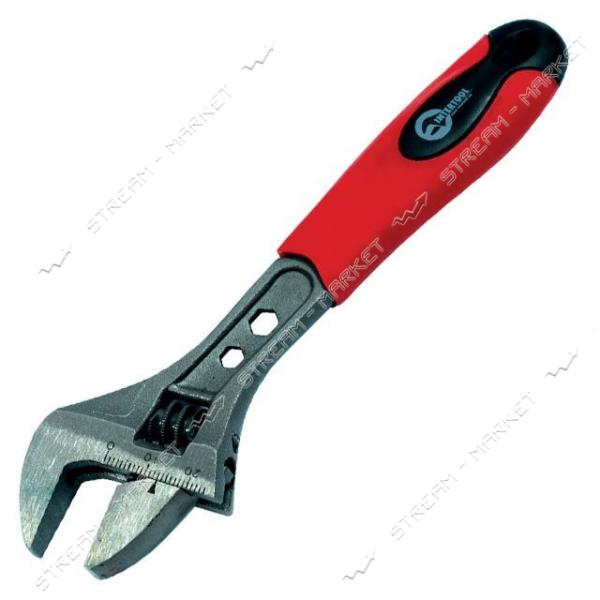 Ключ разводной INTERTOOL HT-0198 300мм, двухкомпонентная рукоятка