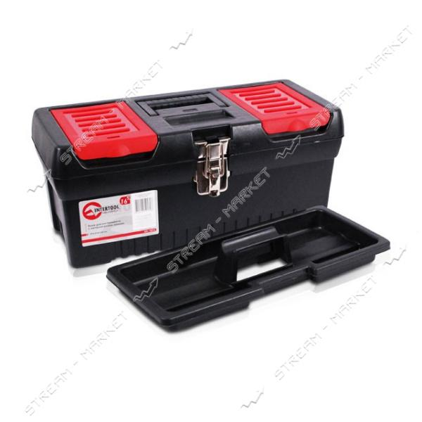 INTERTOOL BX-1016 Ящик для инструмента с металлическими замками 16' (396*216*164 мм)