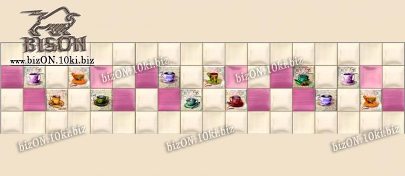 Фото Листовые панели ПВХ Панно «ЧАШКИ» (3 листа в комплекте)   Листовые панели ПВХ