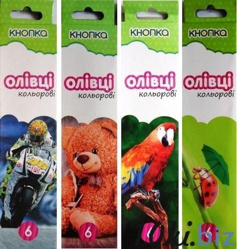 """Карандаши цветные (6 цветов, в ассортименте) - """"Кнопка"""" купить в Кировограде - Цветные карандаши с ценами и фото"""