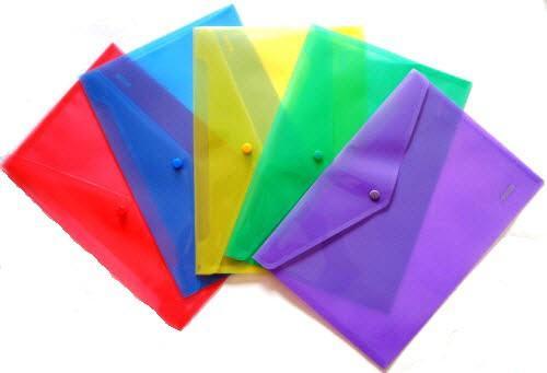 Папка-конверт А-4 на кнопке пластиковая 4Office