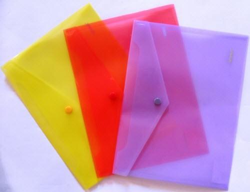 Папка-конверт В5 на кнопке пластиковая NORMA