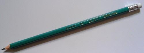 Карандаш простой, школьный с ластиком 2НВ (1 шт.)