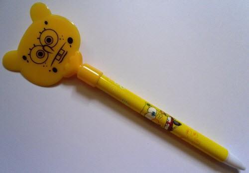"""Ручка шариковая автоматическая BG-3263-01 """"Губка Боб"""" (стержень синего цвета)"""