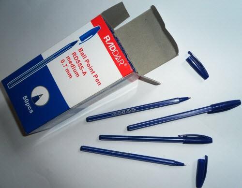 Ручка шариковая RD555-A синяя (50 шт.)