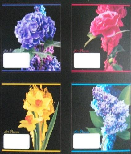 """Тетрадь """"Тетрада"""", 36 листов, клетка, 17х20 см - """"Квіти"""""""