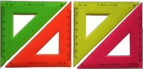 Треугольник ученический (7 см, пластмасса)