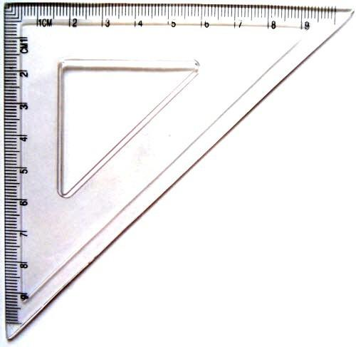 Треугольник ученический (10 см, прозрачный пластик)