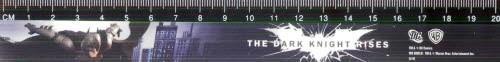 """Линейка пластиковая 20 см (черная с рисунком """"Бетмен"""")"""