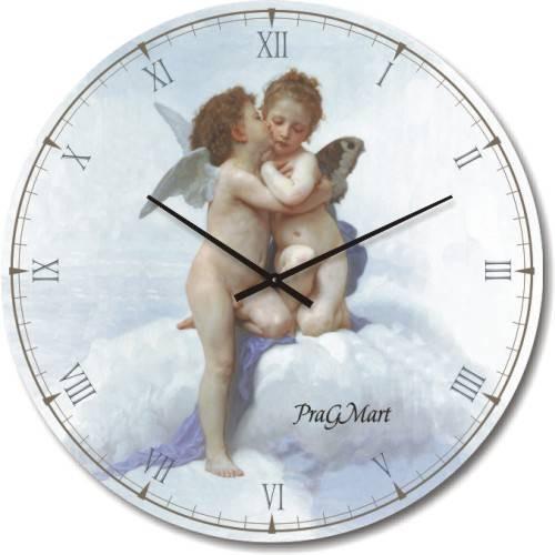 Часы настенные из стекла -картина В. Бугро (немецкий механизм)