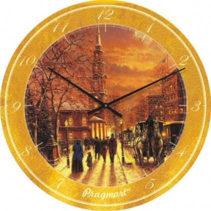Часы настенные из стекладо45-50см - Старый город(немецкий механизм)