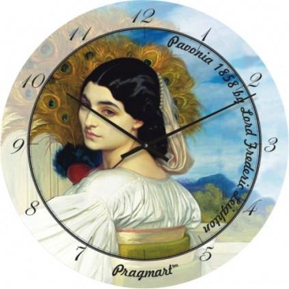 Часы настенные из стекла - Незнакомка(немецкий механизм)до45- 50см