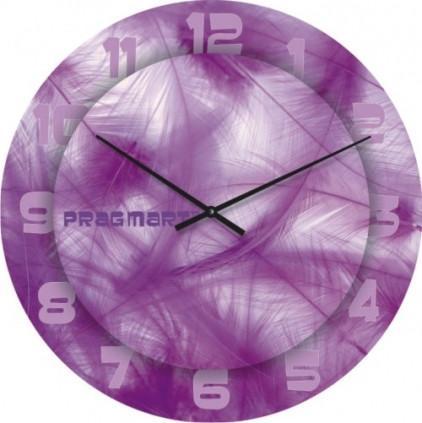 Часы настенные из стекла - перья(немецкий механизм)до45- 50см