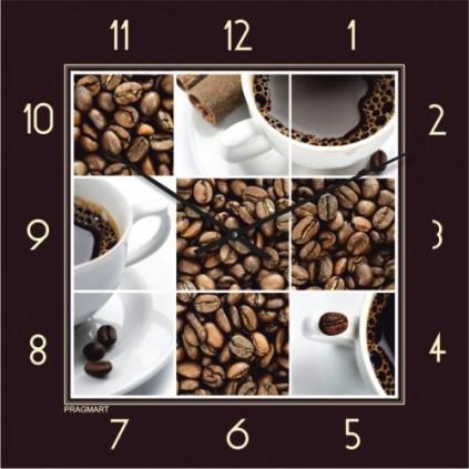 Часы настенные - кофе (немецкий механизм)