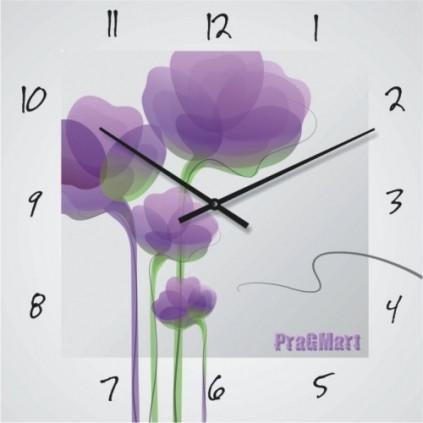 Часы настенные-стекло до 50см(немецкий механизм)